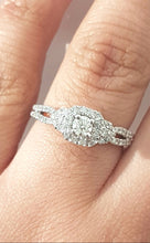 Load image into Gallery viewer, 0.65ct Round Brilliant Cut Diamonds | Twist Design | 14kt White Gold