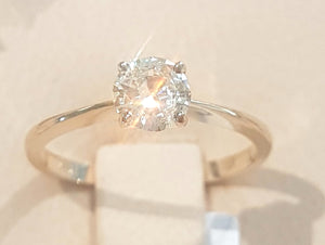 0.535ct Round Brilliant Cut Diamond | Solitaire Ring | 18kt Yellow Gold
