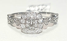 Load image into Gallery viewer, 0.80ct Round Brilliant Cut Diamond Designer Ring set in 14kt Rose / White Gold