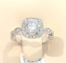 Load image into Gallery viewer, 1.113ct [Centre] + 0.40ct Round Brilliant Cut Diamond Halo Design Ring set in 18kt White Gold