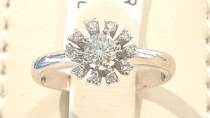 0.32ct [11] Round Brilliant Cut Diamonds | Designer Ring | 18kt White Gold
