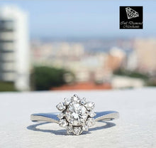 Load image into Gallery viewer, 0.40ct [14] Round Brilliant Cut Diamonds | Designer Ring | 18kt White Gold