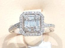 Load image into Gallery viewer, 0.50ct Round and Baguette Cut Diamonds | Designer Ring | 14kt White Gold