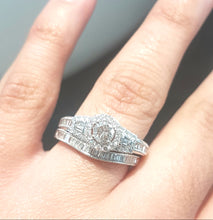 Load image into Gallery viewer, 1.00ct Round and Baguette Cut Diamonds | Bridal Twinset | 14kt White Gold