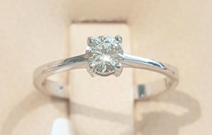 0.30ct Round Brilliant Cut Diamond | Solitaire | 18kt White Gold
