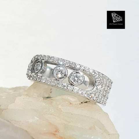 0.83ct [61] Round Brilliant Cut Diamonds | Designer Ring | 18kt White Gold