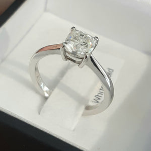 1.07ct Cushion Cut Diamond | GIA Certified Centre Diamond | Solitaire Design | 18kt White Gold