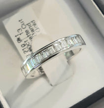 Load image into Gallery viewer, 0.80cts [13] Baguette Cut Diamonds | Designer Diamond Band | 9kt White Gold