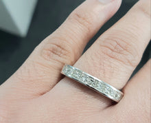 Load image into Gallery viewer, 1.00cts [10] Princess Cut Diamonds | Channel Band | 9kt White Gold