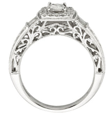 Load image into Gallery viewer, 0.80cts | Round Brilliant, Princess and Baguette Cut Diamonds | Designer Ring | 10kt White Gold
