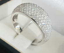Load image into Gallery viewer, 1.00cts [tw] Round Brilliant Cut Diamonds | Dome Design Designer Ring | 14kt White Gold