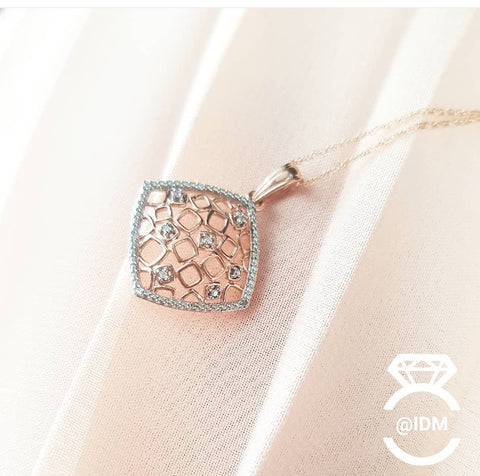 0.25ct Round cut Diamond Pendant | 10kt rose gold