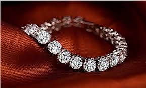 7.80ct [48] Round Brilliant Cut Diamond Tennis Bracelet | 18kt White Gold