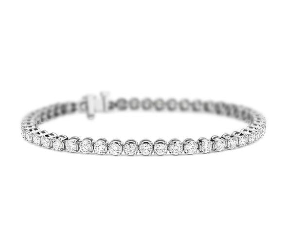 1ct Diamond Bracelet. 3 Row Design. 18kt Rose and White Gold