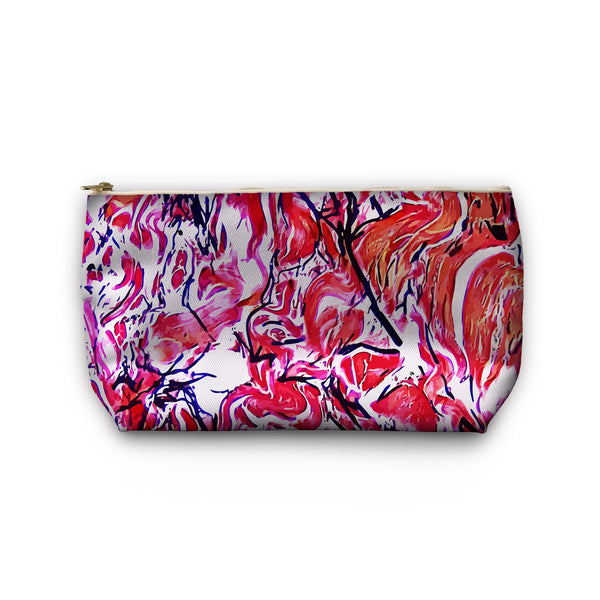 Elastic Black Cosmetic Bag