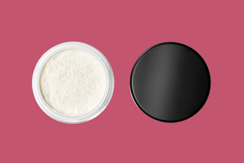 Open Organic Loose Setting Powder for Oily Skin on Cherry Pink, link to shop Powders