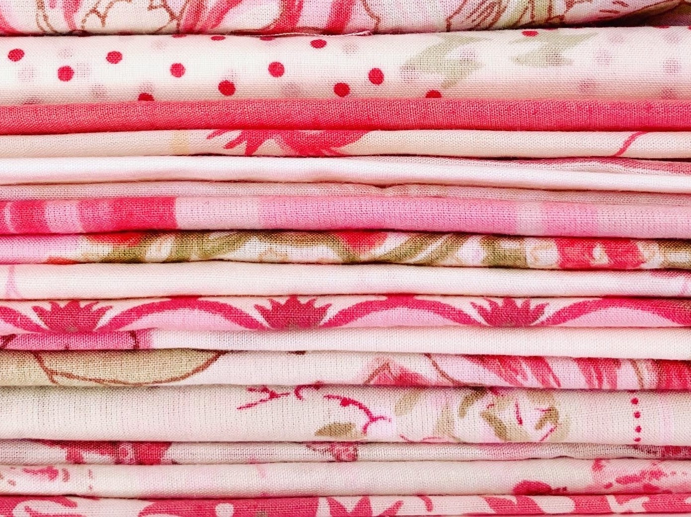 Berry Cotton Percale Scraps