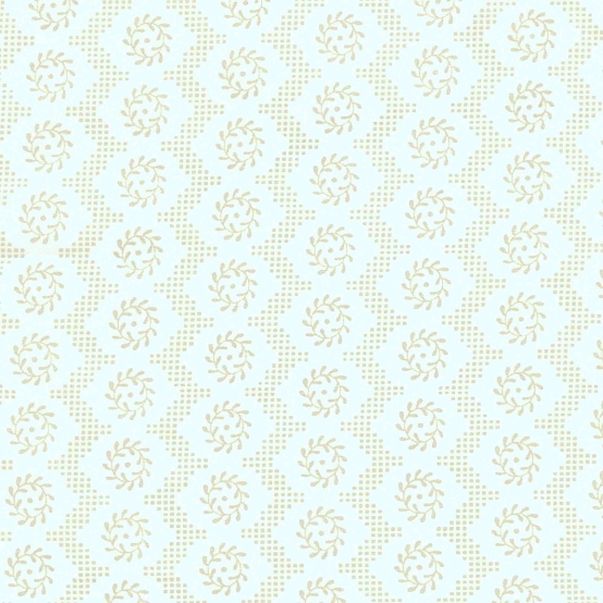 Cotton Percale - Asparagus Violine Fabric