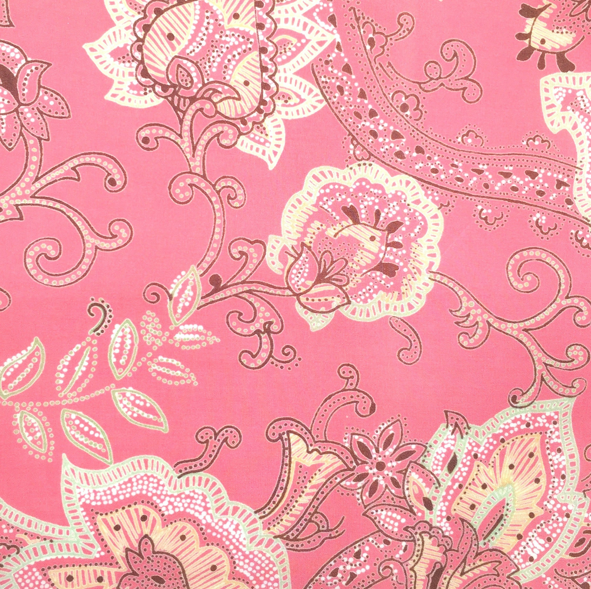 Cotton Percale - Berry Camille Fabric