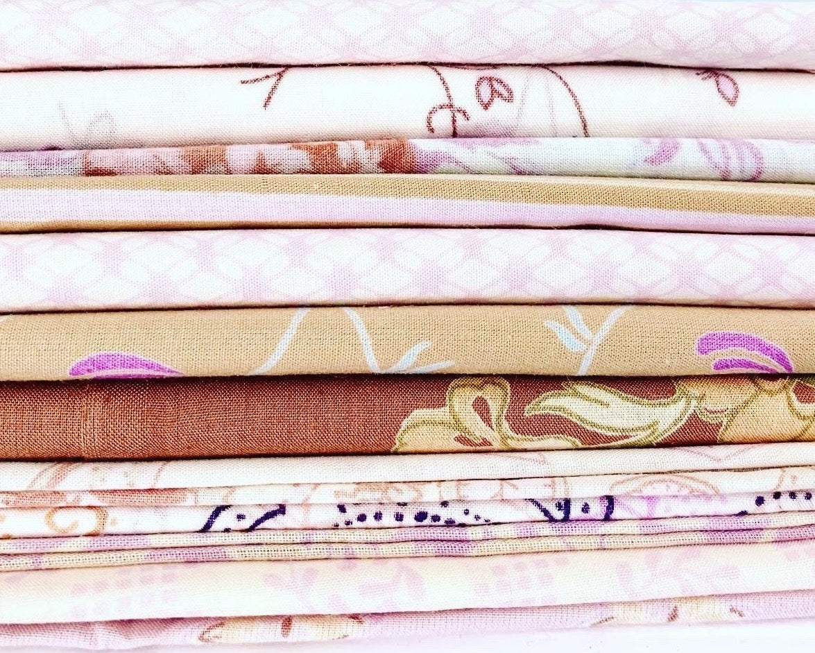 lilac cotton percale scraps