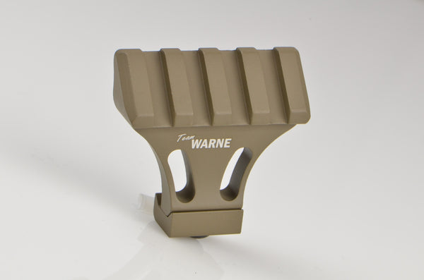 Warne--- A645-DE 45-Degree Angle Mounting Rail Dark Earth