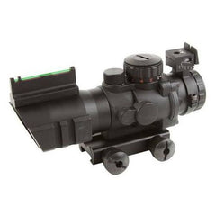 AIM Sport JTDF0432GN 4x32 Fixed w/Fiber Optic Back-Up Mil-Dot Reticle Illuminated