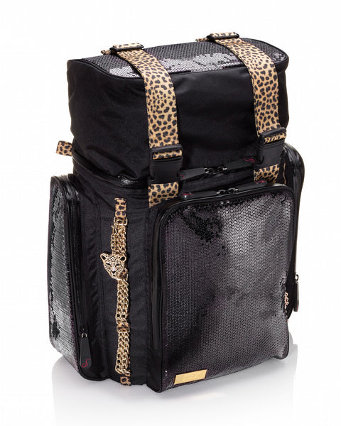 Sterling O'Keefe Wild Cat Durable Sequin Backpack - Expanded Top