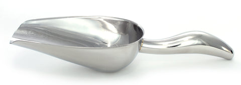 "12 oz Stainless Steel Scoop, 10"" Long by 3.3"" Wide"