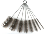 12 Inch Pipe Cleaning Brush Set with Stainless Steel Bristles, 8 Piece Variety Pack