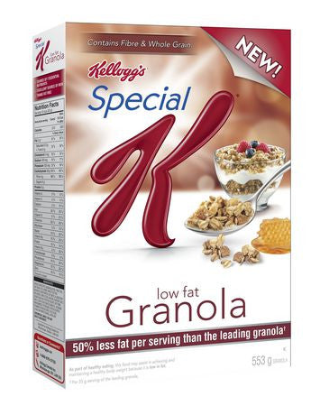Kellogg's Special K Low Fat Granola Cereal
