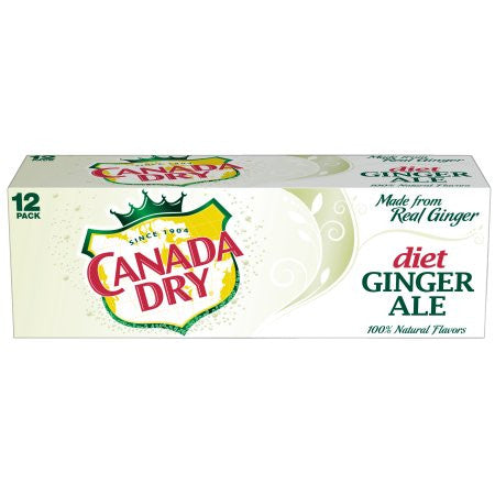 Canada Dry Diet Ginger Ale Box