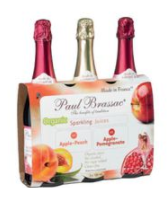 Paul Brassac Organic Sparkling Apple Flavor Juice