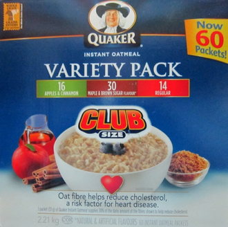 Quacker Oatmeal Mix Box