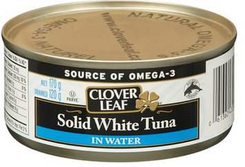 Solid White Tuna Clover Leaf