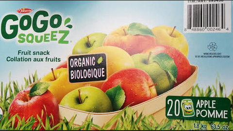 Gogo Squeez Organic Apple