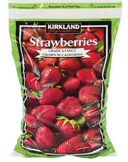 Frozen Whole Strawberries Kirkland