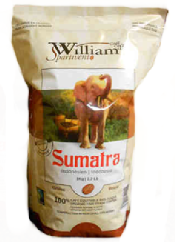 William Spartivento Sumatra Whole Bean Organic Fair Trade Coffee