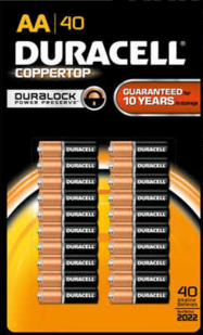 Batteries Duracell Aa Pack