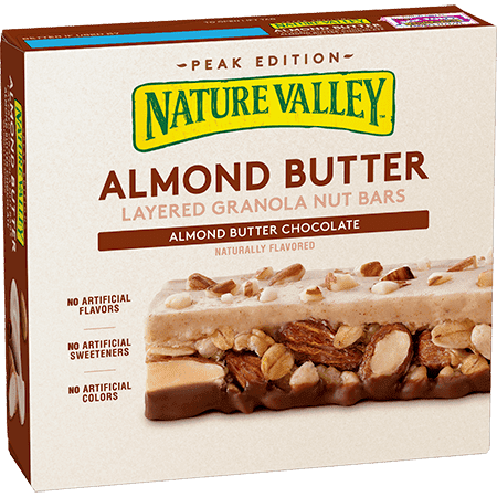 Nature Valley Almond Buttter Granola Nut Choclate Bars