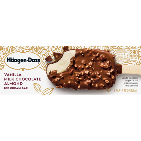 Haagen Dazs Vanilla Milk Chocolate Almond Bars Ice Cream