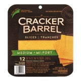Cracker Barrel Cheese Slices Medium Cheddar