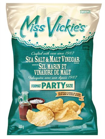 Miss Vickies Salt & Malt Vinegar Chips Large Format