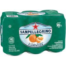 San Pellegrino Clementine Cans pack