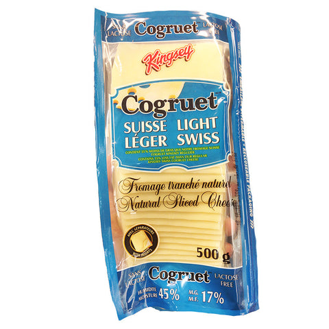 Cogruet Sliced Light Swiss Cheese