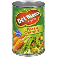 Del Monte Canned Carrots and Peas