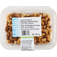 S&B Unsalted Roasted Deluxe Mixed Nuts