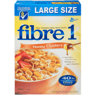 Fibre 1 Cereal Honey Clusters Family Size