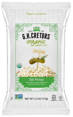 G.H. Cretors Organic Dill Pickle Popped Corn