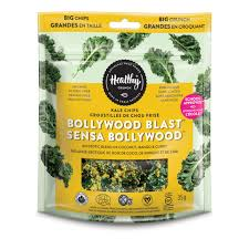 Organic Healthy Kale Chips Bollywood Mango Curry