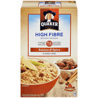 Quaker High Fibre Raisin and Spice Oatmeal